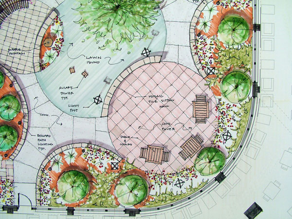 Examples of landscape design drawings images for Landscape design examples